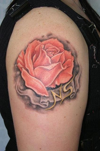 Татуировки и эскизы розы (32)