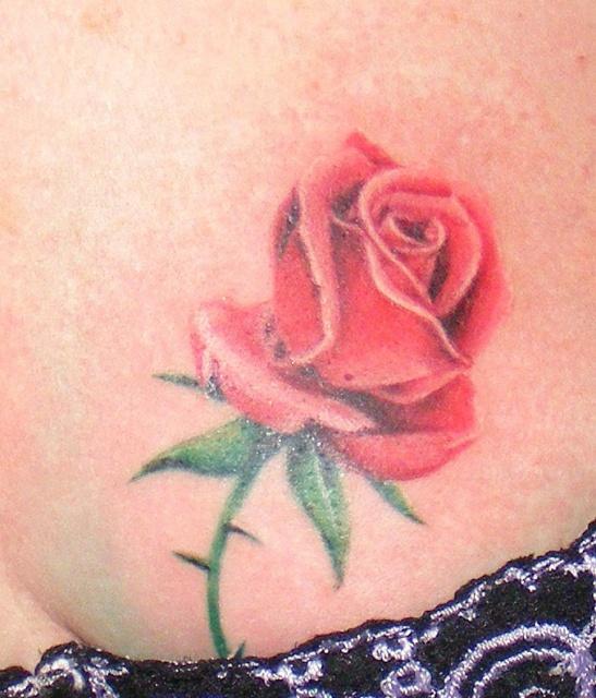 Татуировки и эскизы розы (35)