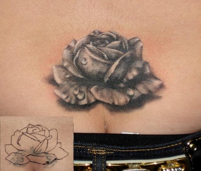 Татуировки и эскизы розы (31)