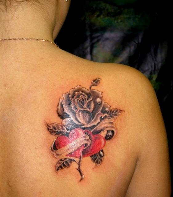 Татуировки и эскизы розы (34)