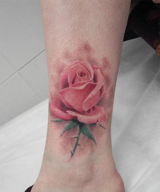 Татуировки и эскизы розы (26)