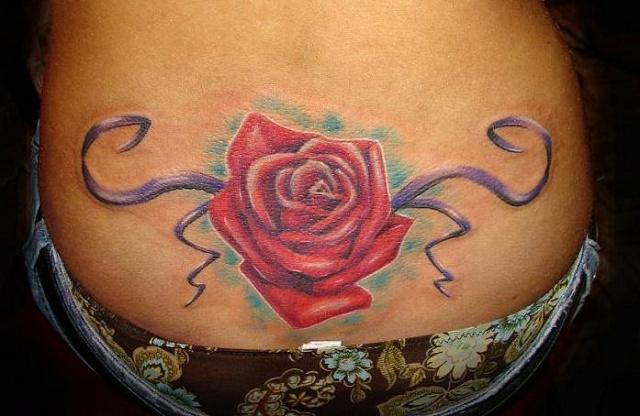 Татуировки и эскизы розы (1)