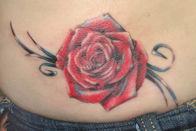 Татуировки и эскизы розы (27)