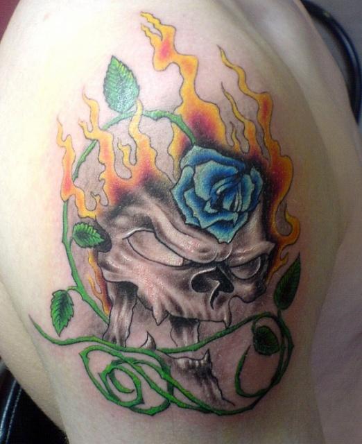 Татуировки и эскизы розы (29)