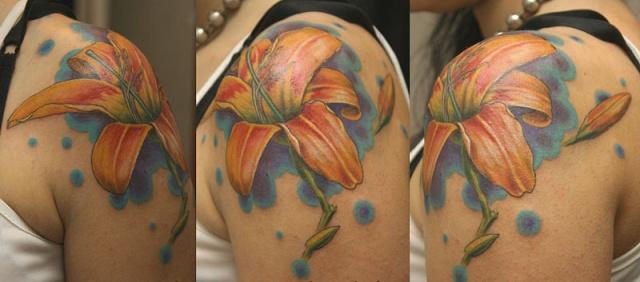 татуировка лилия (37)