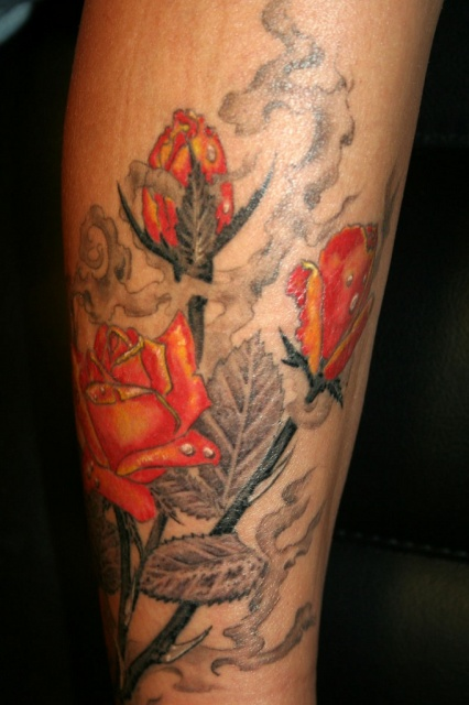 Татуировки и эскизы розы (21)