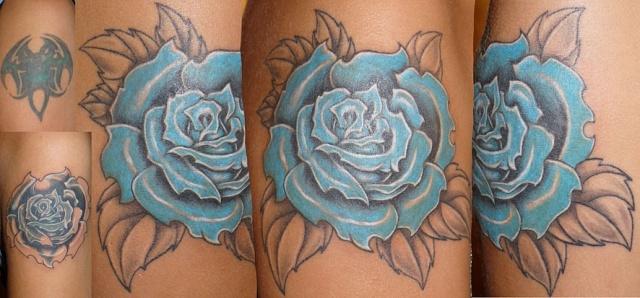 Татуировки и эскизы розы (18)