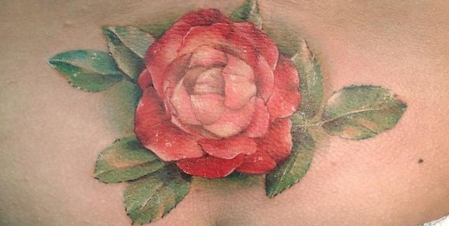 Татуировки и эскизы розы (17)