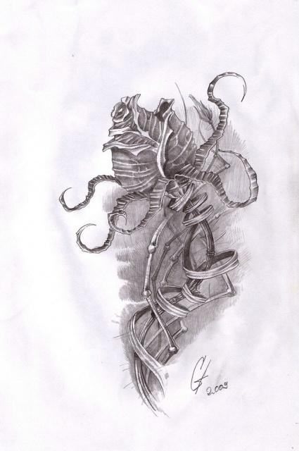 Татуировки и эскизы розы (10)