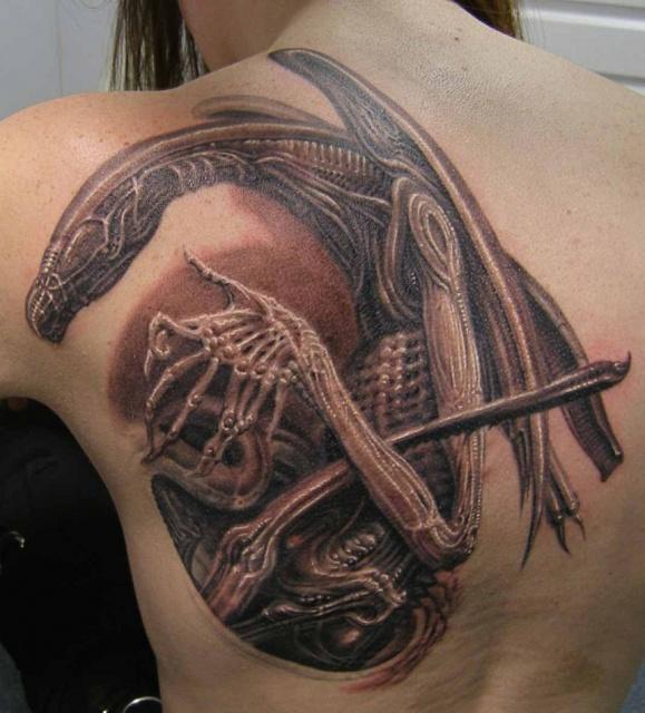 Татуировки Чужой и Хищник (14)