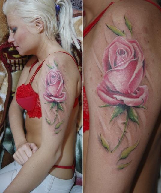 Татуировки и эскизы розы (11)