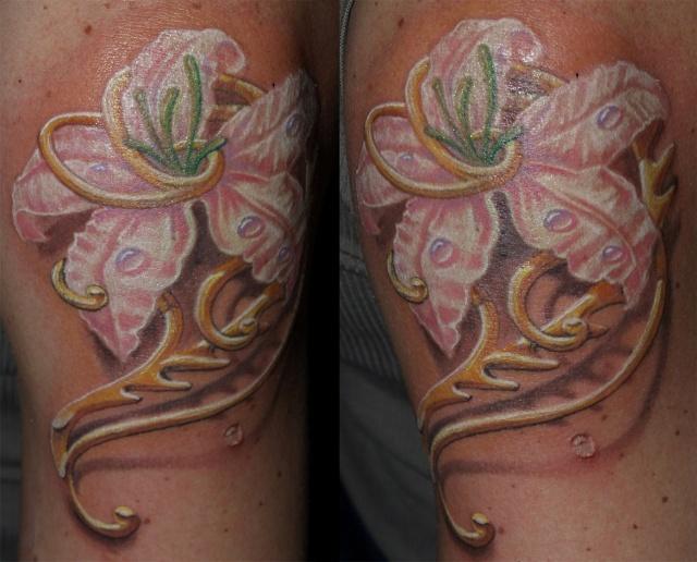 татуировка лилия (10)