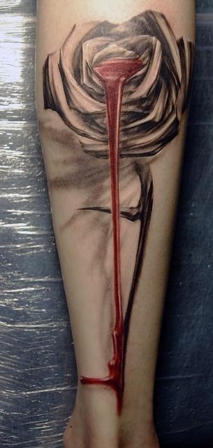 Татуировки и эскизы розы (6)