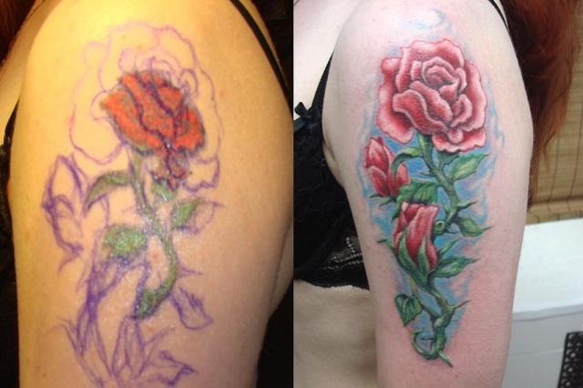 Татуировки и эскизы розы (8)