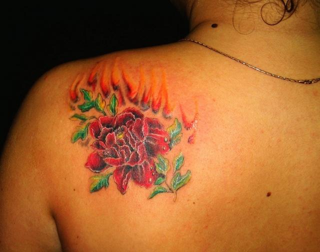 Татуировки и эскизы розы (5)