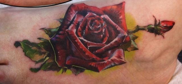 Татуировки и эскизы розы (4)