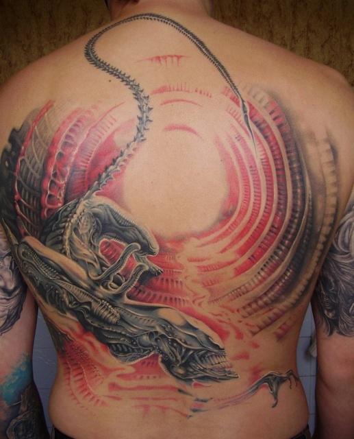 Татуировки Чужой и Хищник (3)