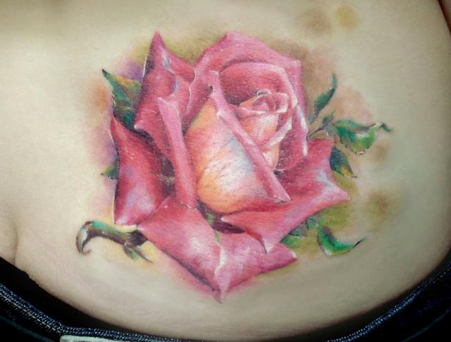 Татуировки и эскизы розы (2)