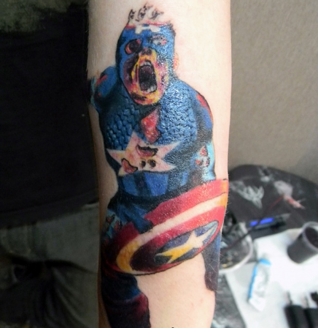 татуировки капитан америка (27)