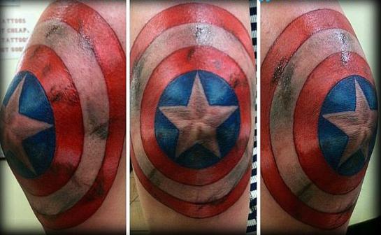 татуировки капитан америка (24)