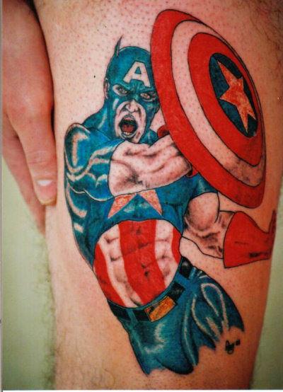 татуировки капитан америка (36)