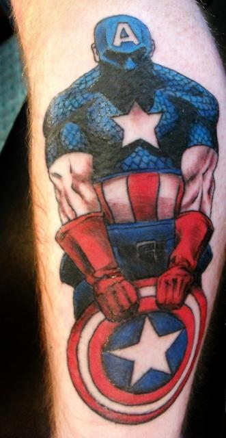 татуировки капитан америка (17)