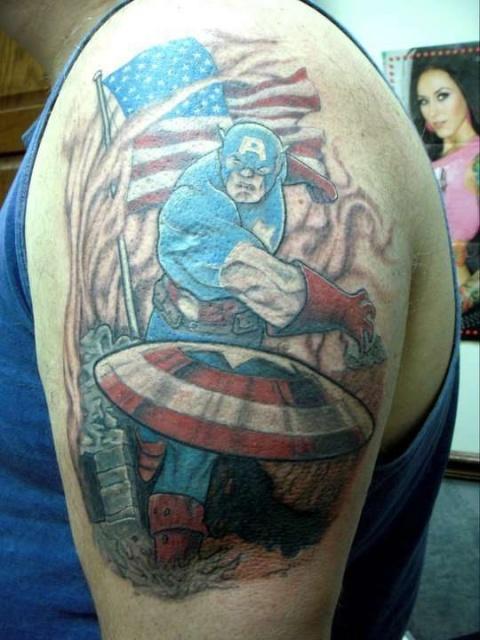татуировки капитан америка (10)