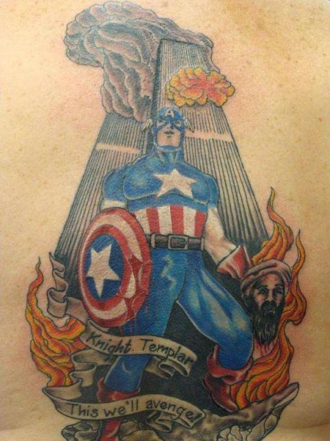 татуировки капитан америка (1)