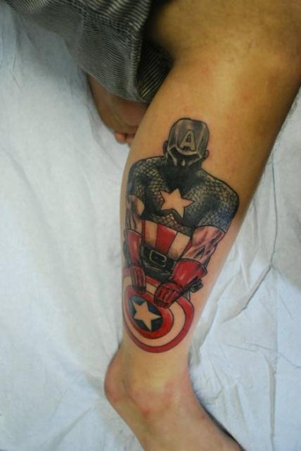 татуировки капитан америка (6)