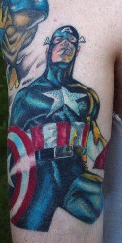 татуировки капитан америка (5)