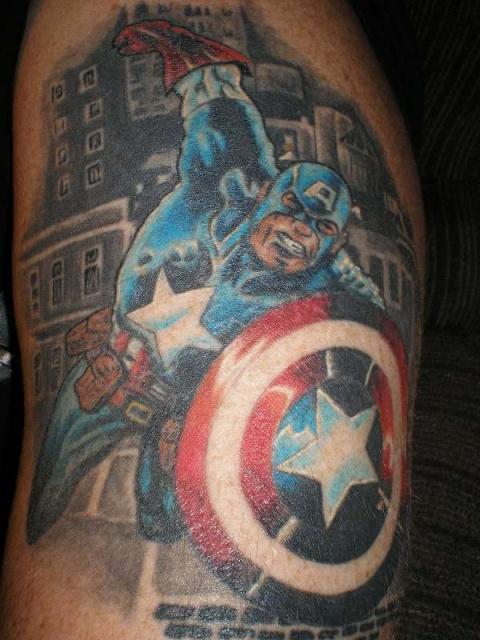татуировки капитан америка (2)