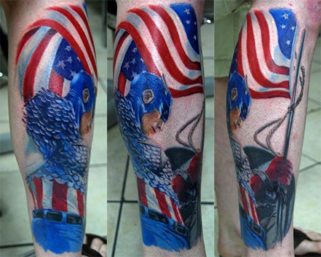 татуировки капитан америка (34)