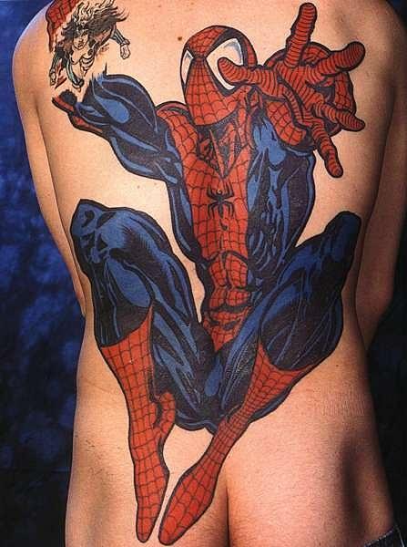 татуировки мультиков Спайдермена