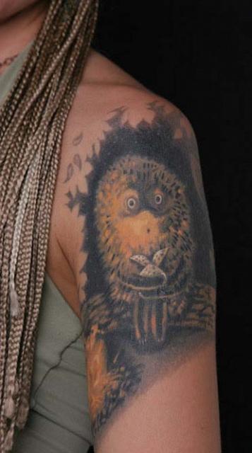 татуировки мультиков Ёжик в тумане