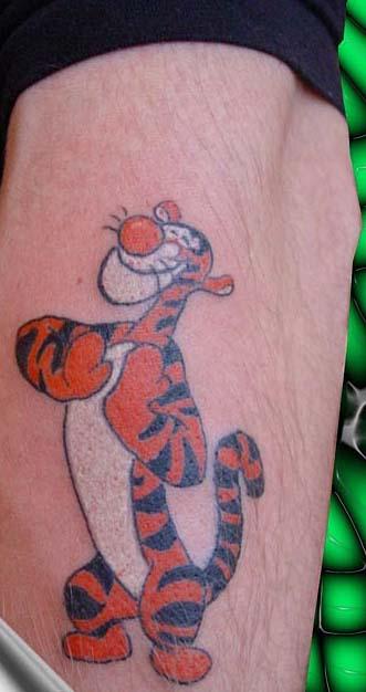 татуировки мультиков Тигра