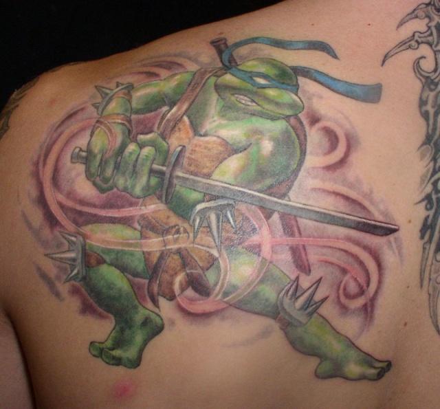 татуировки мультиков черепашки ниндзя