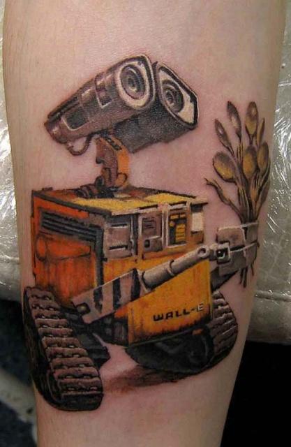 татуировки мультиков WALL-E