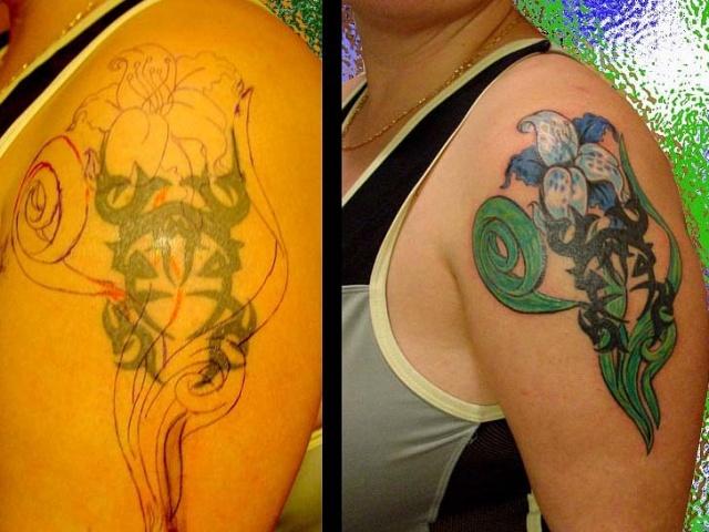 татуировки цветов (14)