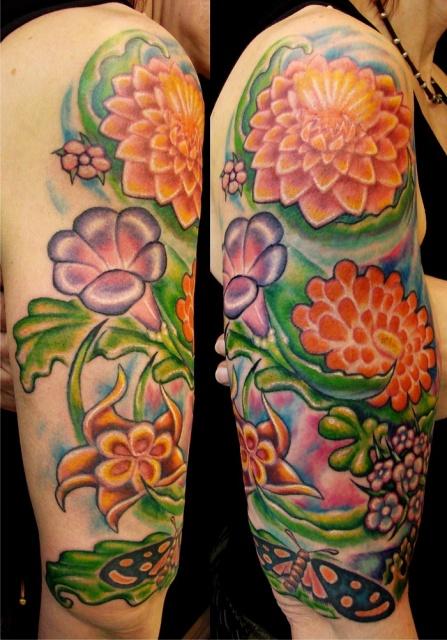 татуировки цветов (5)