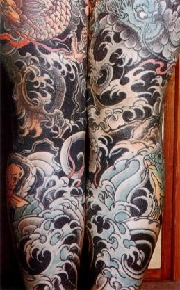 японские татуировки на ногах
