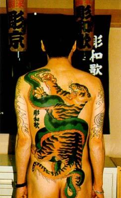японские татуировки на спине и руках