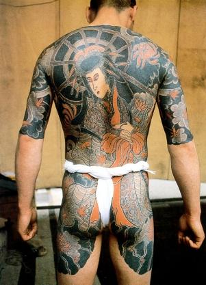 японские татуировки на спине и ногах