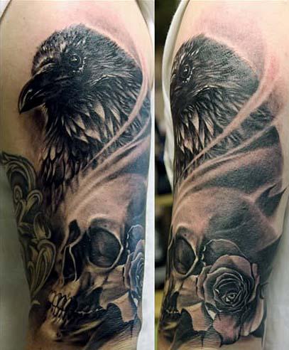 Ворон татуировка (25)