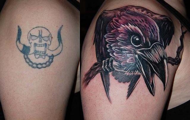 Ворон татуировка (9)