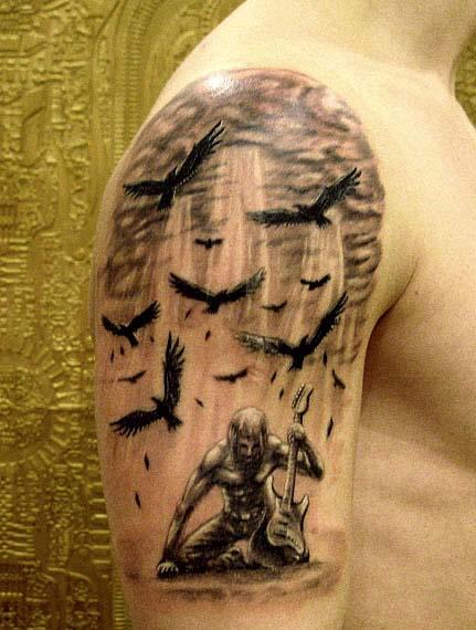 Ворон татуировка (18)