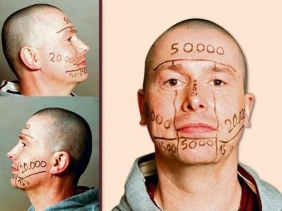 татуировки на лице Уве Трешель (2)