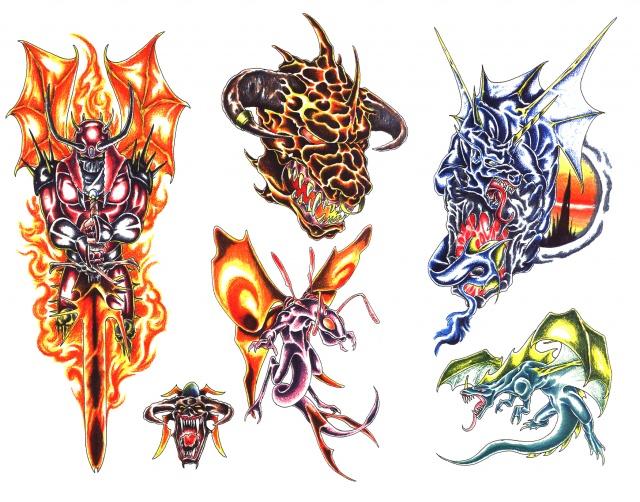 цветные татуировки эскизы (10)
