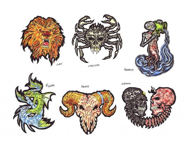 цветные татуировки эскизы (8)