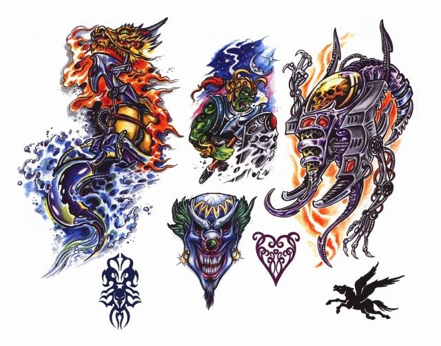 цветные татуировки эскизы (18)