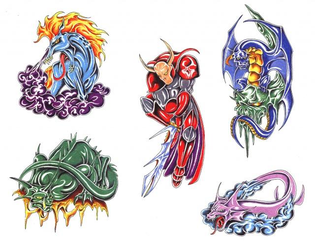 Цветные татуировки эскизы (2)